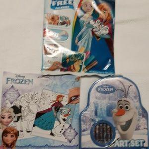 Disney Frozen 3pc set , paint-markers-crayons